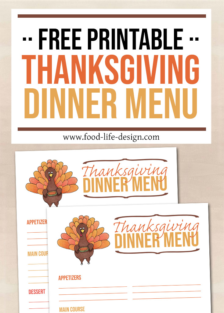 Use this free printable Thanksgiving Menu Planner to keep track of everything you're serving at your holiday meal this year!