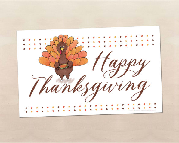 Free Printable Thanksgiving Place Mat - Food Life Design