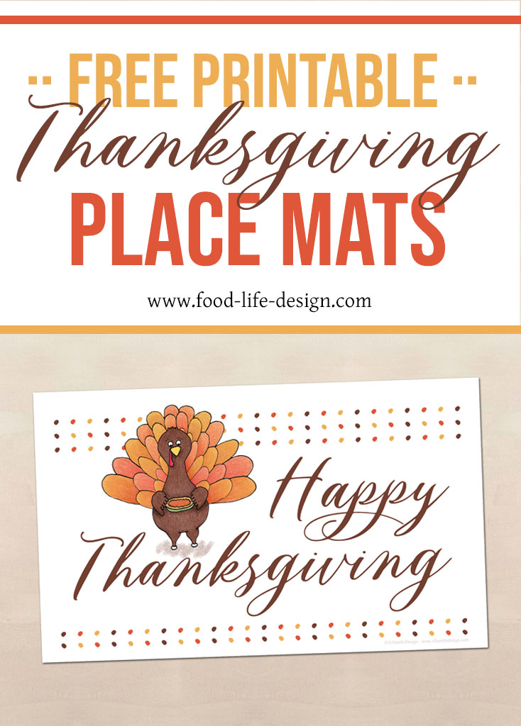 Free Printable Thanksgiving Place Mat for Your Table - Food Life Design