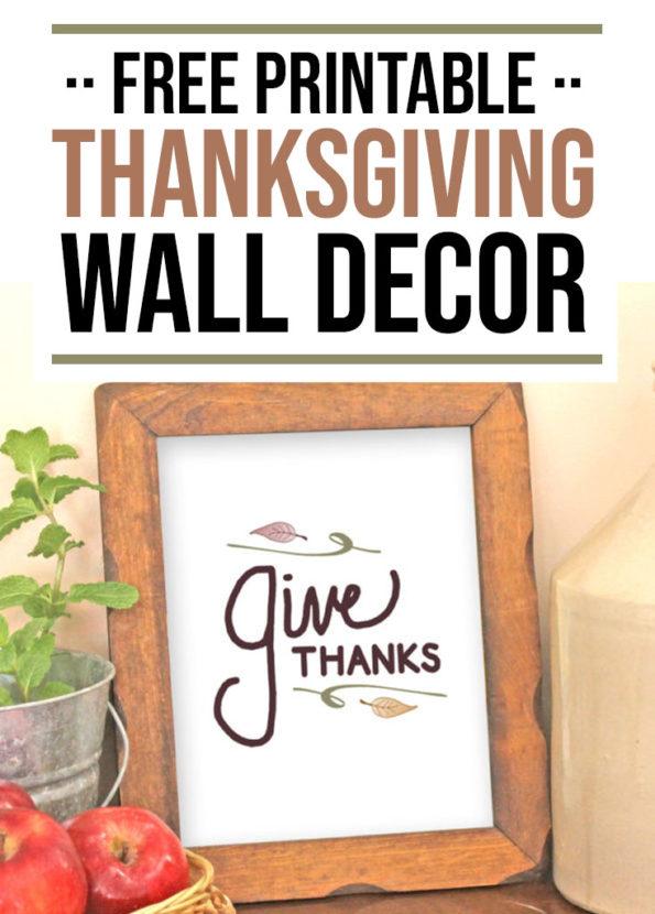 Free Thanksgiving Wall Decor Printable - Food Life Design