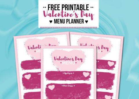 Free Printable Valentine's Day Menu Plan - Food Life Design