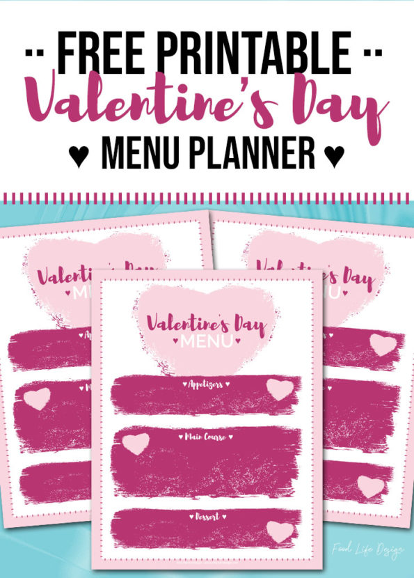 Free Printable Valentine's Day Menu Planner - Food Life Design