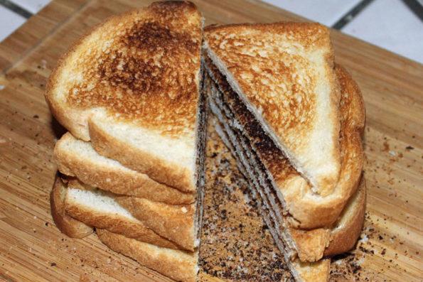 cut toast