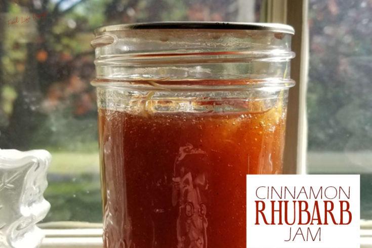 Cinnamon Rhubarb Jam for Canning - Food Life Design