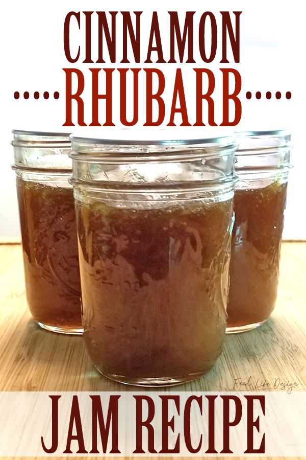 Is your rhubarb taking over the garden? Preserve that summer flavor for the whole year with this delicious Cinnamon Rhubarb Jam!