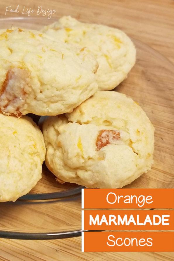 Homemade Orange Marmalade Scones Recipe - Food Life Design