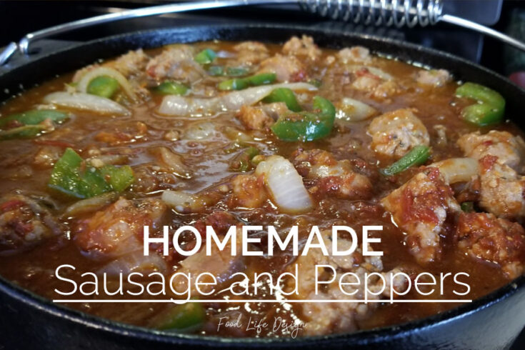 Homemade Sausage and Peppers