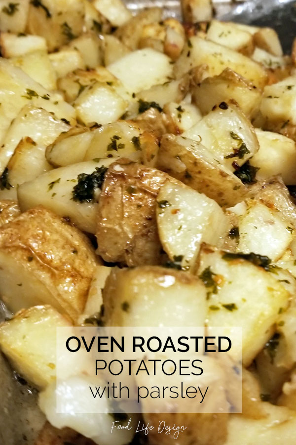 Oven Roasted Potatoes with Parsley