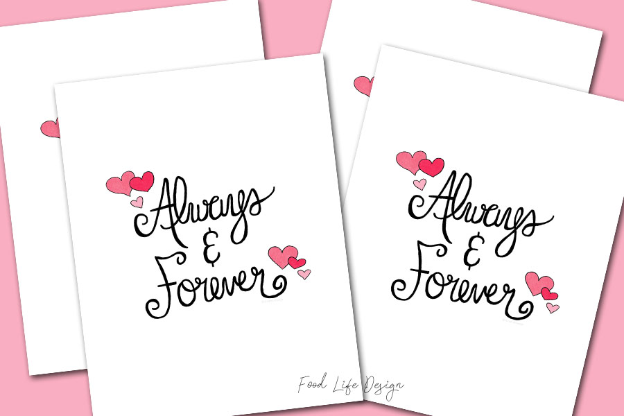 Always and Forever Wall Art Print