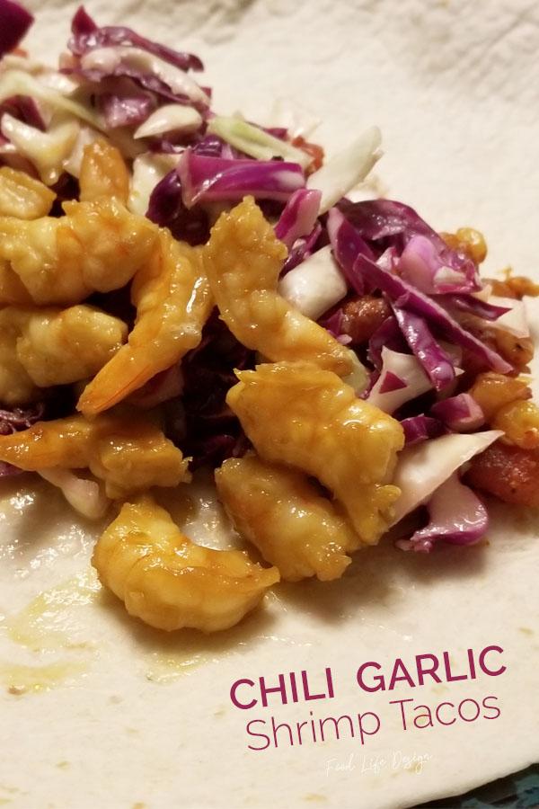 Chili Garlic Shrimp Tacos