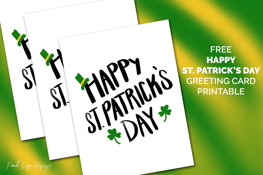 Free Happy St Patricks Day Printable Greeting Card