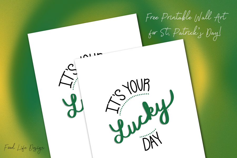 Free Printable Wall Art for St Patricks Day