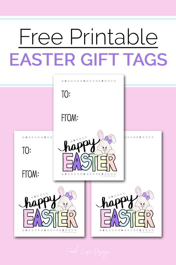 Free Easter Gift Tags Printable - Food Life Design