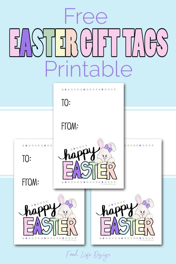 Free Printable Easter Gift Tags - Food Life Design