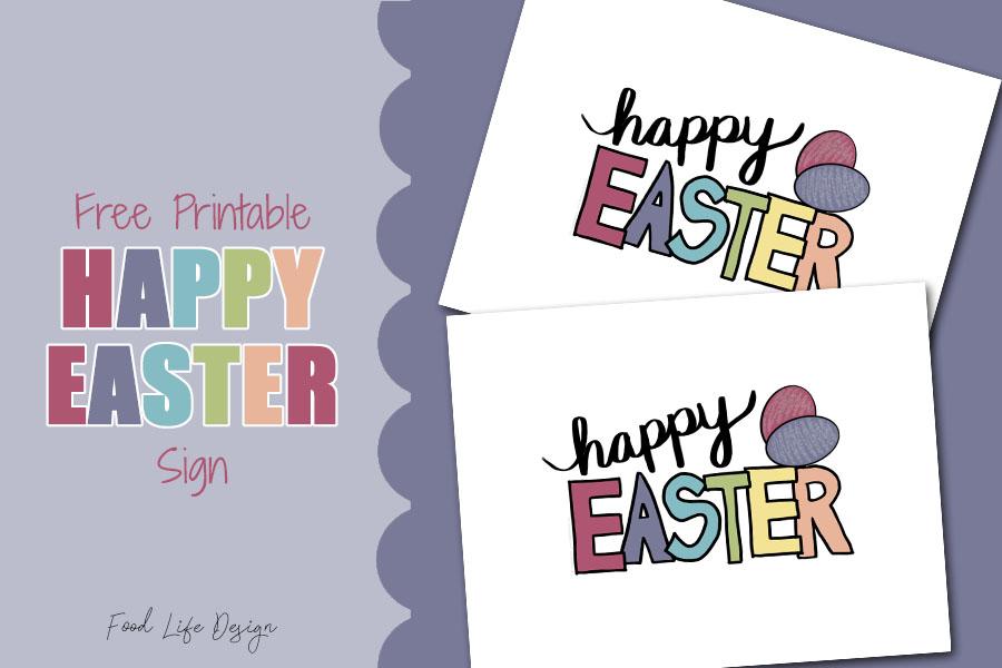 Free Printable Easter Wall Art - Food Life Design