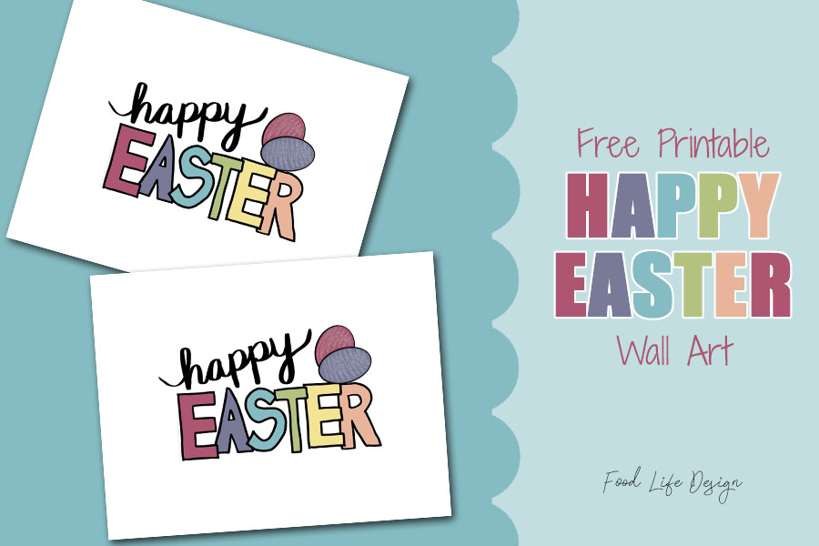 Free Printable Easter Wall Decor - Food Life Design