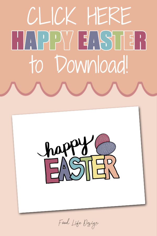 Free Printable Happy Easter Sign - Food Life Design