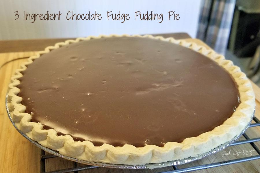 3 Ingredient Chocolate Fudge Pie Recipe